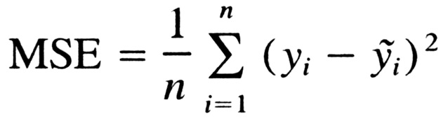 Mean Squared Error (MSE)